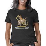 corgi-bull-rider_blk Women's Classic T-Shirt