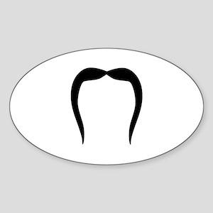 Funny Mustache beard Sticker (Oval)