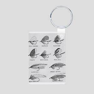 Fly Fishing Flies Aluminum Photo Keychain