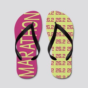 26.2 Marathon PINK LIME Flip Flops