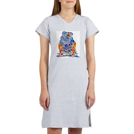 Whimsical English Bulldog Women's Nightshirt