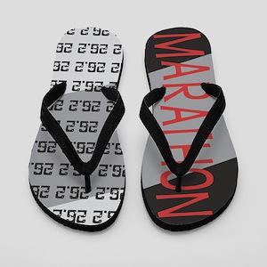 26.2 Marathon RED GRAPHIC Flip Flops