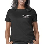 chicago whitew letters Women's Classic T-Shirt