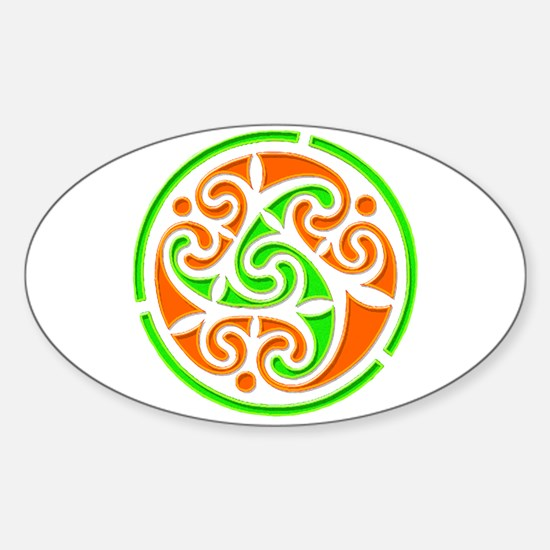 Vintage Irish Style Sticker (Oval)
