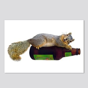 Squirrel Empty Bottle Postcards (Package of 8)