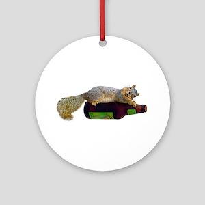 Squirrel Empty Bottle Ornament (Round)