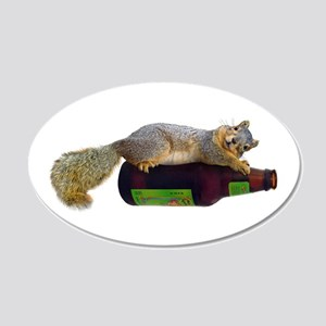 Squirrel Empty Bottle 20x12 Oval Wall Decal
