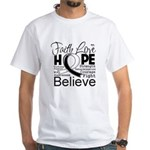 Faith Hope Carcinoid Cancer White T-Shirt
