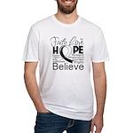 Faith Hope Carcinoid Cancer Fitted T-Shirt