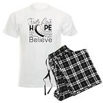 Faith Hope Carcinoid Cancer Men's Light Pajamas