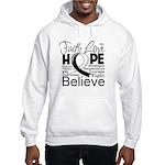 Faith Hope Carcinoid Cancer Hooded Sweatshirt