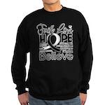 Faith Hope Carcinoid Cancer Sweatshirt (dark)