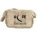 Faith Hope Carcinoid Cancer Messenger Bag