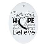 Faith Hope Carcinoid Cancer Ornament (Oval)