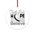 Faith Hope Carcinoid Cancer Ornament (Round)