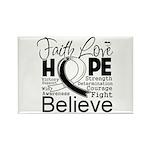 Faith Hope Carcinoid Cancer Rectangle Magnet (10 p