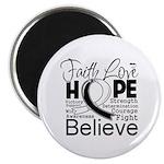 Faith Hope Carcinoid Cancer Magnet