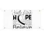 Faith Hope Carcinoid Cancer Banner