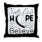 Faith Hope Carcinoid Cancer Throw Pillow
