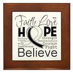 Faith Hope Carcinoid Cancer Framed Tile