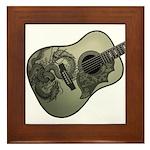 Karami ryuu guitar 1 Framed Tile