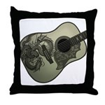 Karami ryuu guitar 1 Throw Pillow