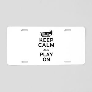 Keep Calm Baritone Aluminum License Plate