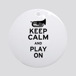 Keep Calm Baritone Ornament (Round)