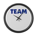 (Eye) I in Team Large Wall Clock