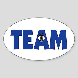 (Eye) I in Team Sticker (Oval)