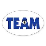 (Eye) I in Team Sticker (Oval 10 pk)