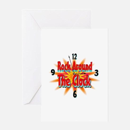 rock around theclock Greeting Card