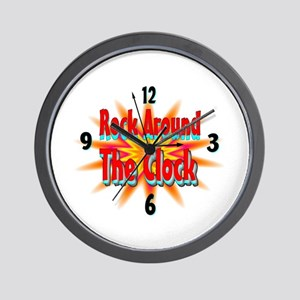 rock around theclock Wall Clock