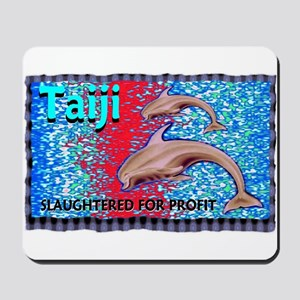 stop the slaughter of dolphin Mousepad