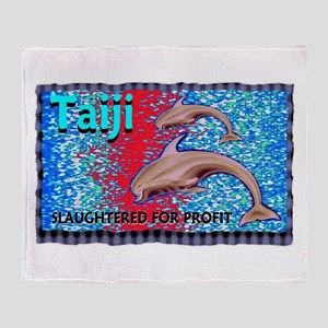 stop the slaughter of dolphin Throw Blanket