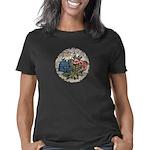Cracked Rock flowers Women's Classic T-Shirt