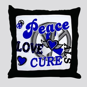 Peace Love Cure ALS 2 Throw Pillow