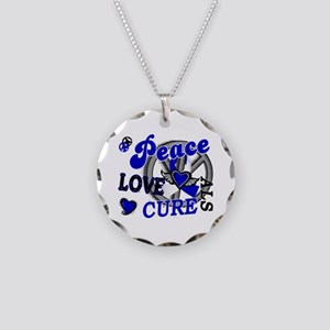 Peace Love Cure ALS 2 Necklace Circle Charm