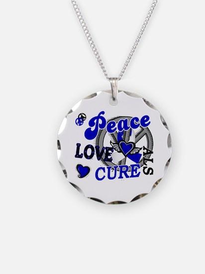 Peace Love Cure ALS 2 Necklace