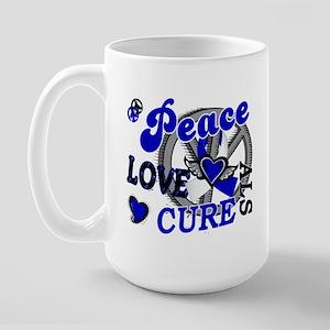 Peace Love Cure ALS 2 Large Mug