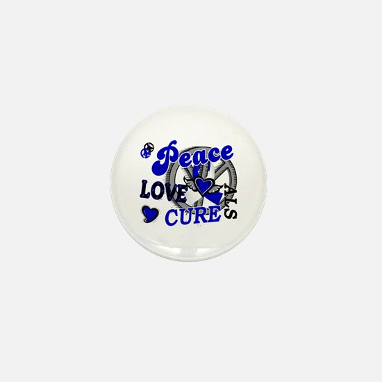 Peace Love Cure ALS 2 Mini Button