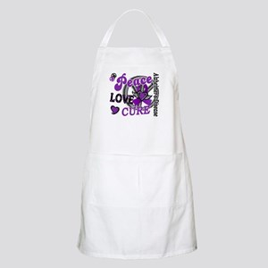 Peace Love Cure 2 Alzheimers Apron