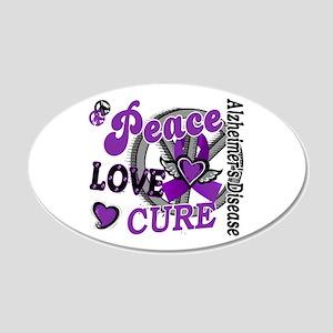 Peace Love Cure 2 Alzheimers 22x14 Oval Wall Peel