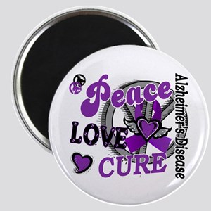 Peace Love Cure 2 Alzheimers Magnet