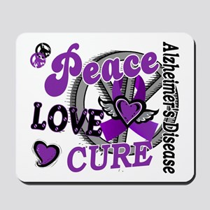 Peace Love Cure 2 Alzheimers Mousepad