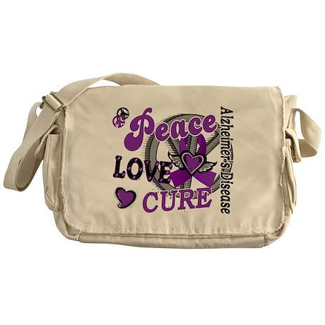 Peace Love Cure 2 Alzheimers Messenger Bag