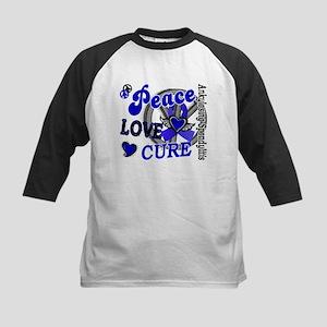 Peace Love Cure 2 AS Kids Baseball Jersey