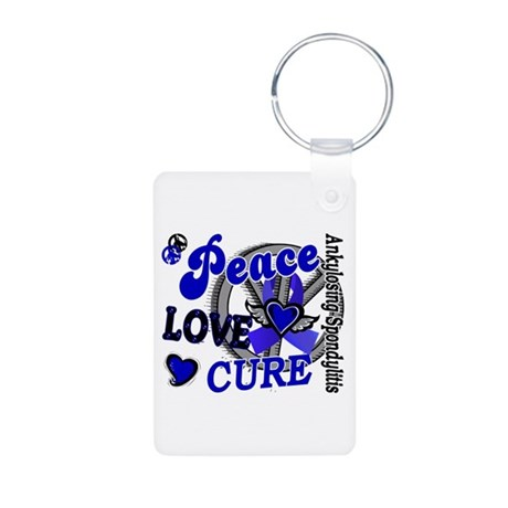Peace Love Cure 2 AS Aluminum Photo Keychain