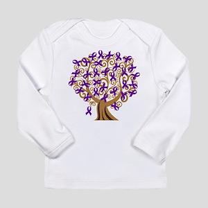 Purple Ribbon Awareness Tree Long Sleeve Infant T-
