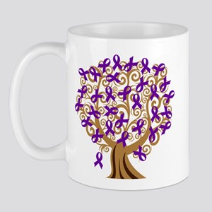 Purple Ribbon Awareness Tree Mug